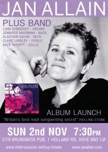 Jan Allain Album Launch at The Brunswick, Hove